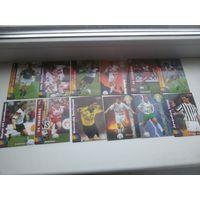 Футбольные карточки, карточки футболистов 53 штуки. цена за всё