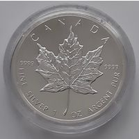 Канада 1988 серебро (1 oz) (в капсуле)