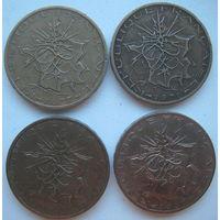 Франция 10 франков 1977, 1978, 1980, 1987 гг. Цена за 1 шт.