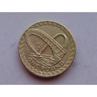Великобритания 1 фунт 2007