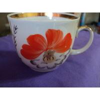 Чашка СССР Барановского фарфорного завода.Клеймо 70-91гг ,ручная роспись