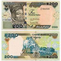 Нигерия. 200 найра (образца 2019 года, P29s, XF)