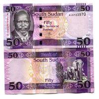 Южный Судан 50 фунтов образца 2017 года UNC p14c