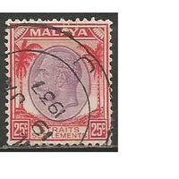 Стрейтс Селтментс. Король Георг V. Пальмы. 1936г. Mi#200.