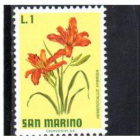 Сан-Марино.Ми-984,985. Цветы.Лилия.1971.