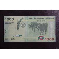 Бурунди 1000 франков 2015 UNC