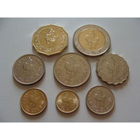 Ливия. набор из 8 монет 1,5,10,20,50,100 дирхам 1/2,1/4 динара 1979 - 2009 год