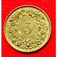 34-19 Швейцария, 5 раппенов 1981 г.
