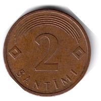 Латвия. 2 сантима. 2006 г.