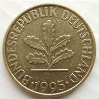 Германия 10 пфеннигов 1995 г Тип F