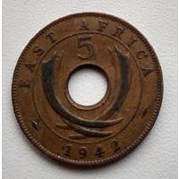 Британская Восточная Африка 5 центов, 1942 3-1-7