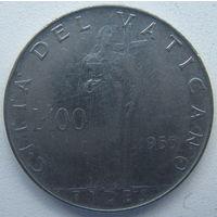 Ватикан 100 лир 1955 г. (gl)
