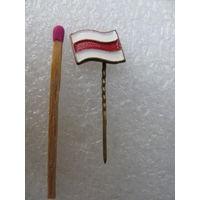 Знак. Бело-красно-белый флаг. тяжёлый, иголка