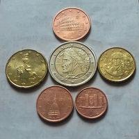 Набор евро монет Италия 2013 г. (1, 2, 5, 10, 20 евроцентов, 2 евро)