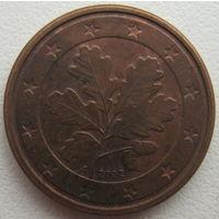 Германия 1 евроцент 2002 г. (A)