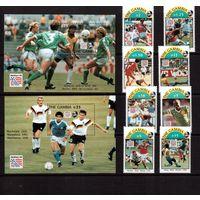 Гамбия-1993 (Мих.1769-1776,Бл.211-212) **  , Спорт, ЧМ-1994 по футболу