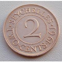 Сейшельские острова. 2 цента 1961 года  KM#15