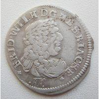 6 грошей 1686 BA - Фридрих Вильгельм - про чекан + в блеске.