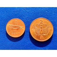 Соломоновы Острова. 1 цент 2005, 2 цента 2005.