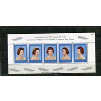 Новая Зеландия. 25 лет регенства королевы Елизаветы II. Блок