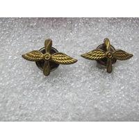 Петличные эмблемы ВВС латунь винт