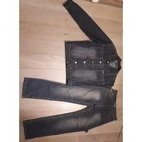 Отличный джинсовый комплект. Джут + джинсы.