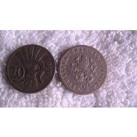 Чехословакия 20 геллеров 1924г. распродажа