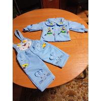 Теплый костюм для малыша до 1-1,5 года