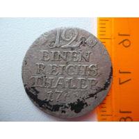 Монета 1/12 рейхс таллера 1768 года
