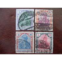 DR Mi.150, 151, 152, 153 Рейх. 1920 / 1921 год (mi.10.5 euro)