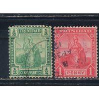 GB Тринидад 1909 Сидячая Британия Стандарт #67-8
