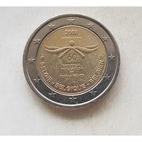 2 евро 2008 Бельгия 60 лет Декларации прав человека