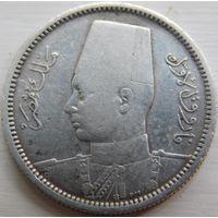 6. Египет 2 пиастра 1939 год, серебро