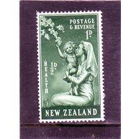 Новая Зеландия. Ми-307. Медсестра и ребенок 2 + 1. Серия: Медицинские марки .1949.