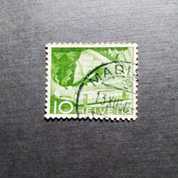 Марка Швейцария 1949 год Техника и пейзажи