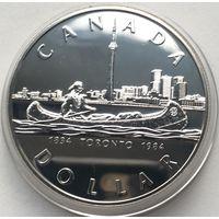 Канада, доллар,1984, серебро