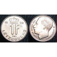 W: Люксембург 1 франк 1989 (306)