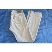 Голубые летние джинсы Левис Levis на клепках обрезанные 33 х 34 (110 х 88)