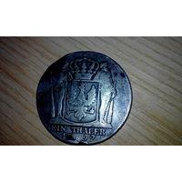 1 таллер 1792 год серебро оригинал!!!