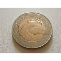 "Алжир. 100 динар 2015 год  KM#132  ""Арабский скакун"""