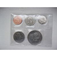 Набор монет Панама 5 штук