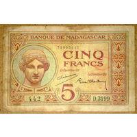 Мадагаскар 5 франков 1937г