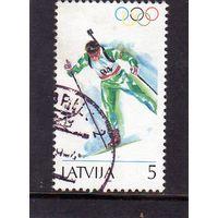 Латвия.Спорт.Биатлон.Олимпийские игры. Лилехаммер.1994.