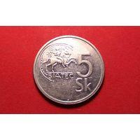 5 крон 1993. Словакия.