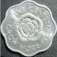 Сейшелы 5 центов 1972 КМ#18 ФАО