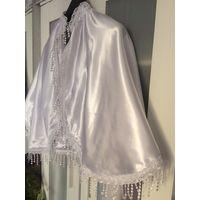 Белая накидка на свадебное платье Плотная