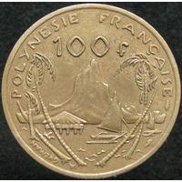 1к Французкая Полинезия 100 франков 1976 В ХОЛДЕРЕ распродажа коллекции