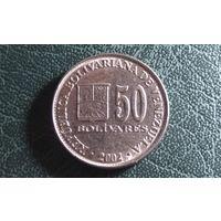 50 боливаров 2002. Венесуэла.