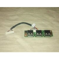 USB-плата Columbia 06583-1 со шлейфом 20-pin для ноутбуков Acer Extensa и TravelMate (5xxx, 7xxx). Модель: 48.4T302.011.