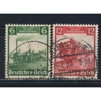 Германия Рейх 1935 100 летие Германской железной дороги Локомотивы #580-1